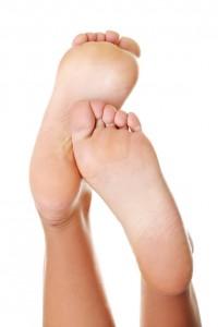 Beautiful caucasian woman feet